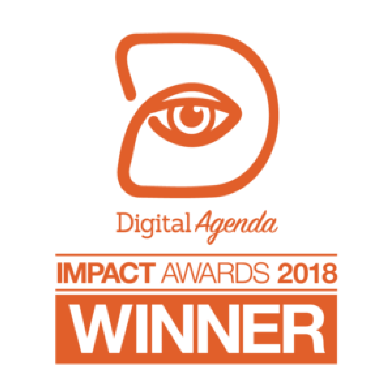 Digital agenda impact awards 2018 winner badge