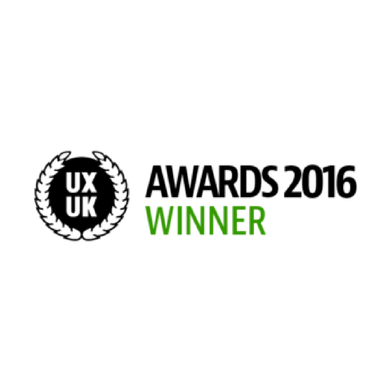 UXUK awards 2016 winner badge